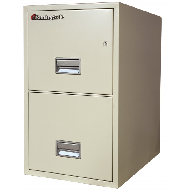 Sentry 2T2510 2 Drawer Vertical File Cabinet with Fire/Impact ...