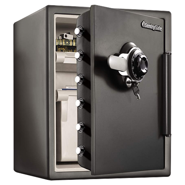 Sentry sfw205dpb water 1 hr fire safe with combo lock for 1 hour fire rated door price